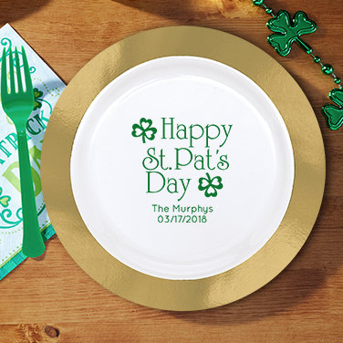 Personalized St. Patrick's Day Plates