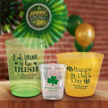 Personalized St. Patrick's Day Cups