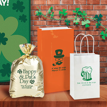 Personalized St. Patrick's Day Favor Bags & Boxes