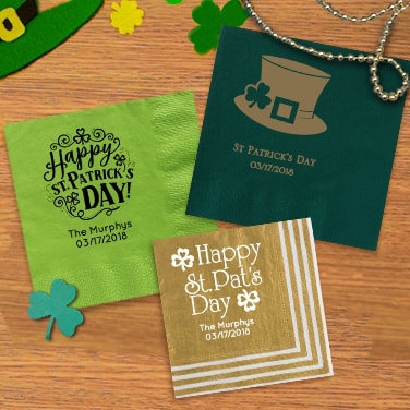 Personalized St. Patrick's Day Napkins