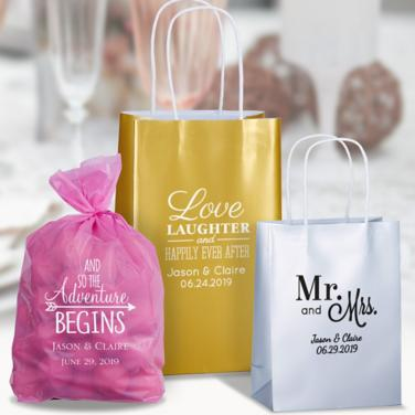 Personalized Wedding Favor Bags & Boxes